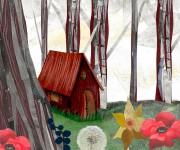casetta nel bosco (tratta da un racconto mitologico norvegese.