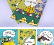 Illustrated greetings card