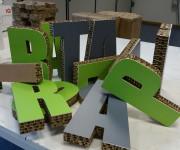 Lettere in cartone e PVC