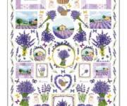 carta decoupage con lavanda