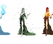 Character Desing: Elements (female)