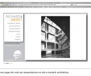 grafica per presentazione on-site Richard Meier