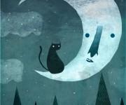 Gatto e la luna