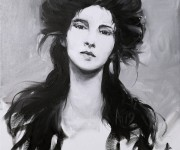 Alla prima vintage portrait