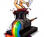 gaga meat rainbow copia