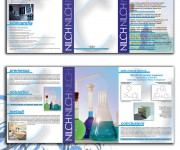 Brochure e logo per casa farmaceutica