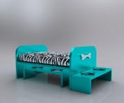 Archidog blu zebra