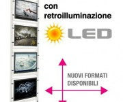 Espositore multimessaggio LED