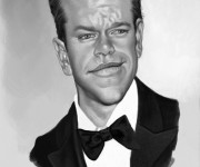 matt damon caricature