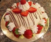 Torta Fragole panna Pasticceria Buonarroti