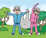 illustrazione per la festa dei nonni. casa editrice Myboo
