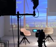 Set per evento in diretta streaming nello spazio Light