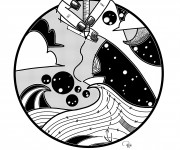 4 _ Barchetta ferma in mezzo al mare