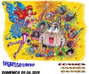 Locandina per la mostra del fumetto CB COMIX 2019 di Cinisello Balsamo (Mi)
