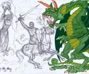 Studio per S. Giorgio e il Drago