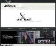 www.maxivision.it sito web in flash con gallery completamente customizzato e personalizzato, eventi e maxischermi