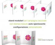 Stand modulari per campagna vaccinale