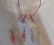 bracciale graffette rosa e bianche