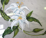 decorazioni su marmo