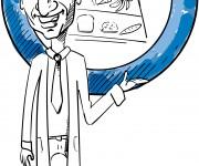 caricatura del nutrizionista Danilo Cariolo