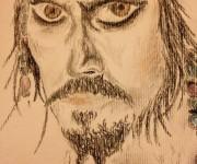 Jack Sparrow, ritratto carboncino