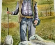 pastore - acquerello