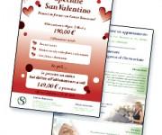 Volantino promo trattamenti San Valentino