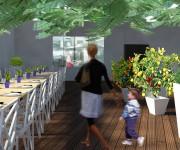 ristrutturazione cascina - serra ristorante
