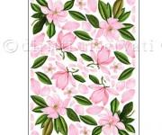 carta decoupage con magnolia