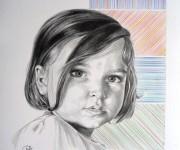 ritratto bimba - tecnica matita