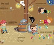 USBORNE - Pirate Wipe Clean - BELOW THE DECK - Dania Florino