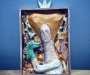 Rita Levi Montalcini- altorilievo cartapesta