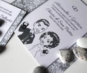 Alessandro & Gessica - Partecipazioni nozze con caricature