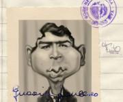 Guccini giovane caricatura