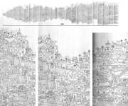 Il Salento. di paolo Ferro. Riproduzione disegno 1a1 in file per stampa tramite scansioni manuali
