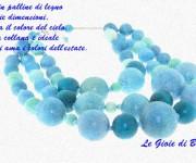 Collana di perle in legno