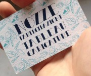 Personal business card for wedding design - Fronte