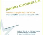 CONFERENZA. MARIO CUCINELLA