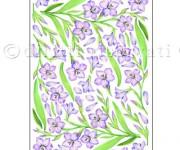carta decoupage con gladiolo