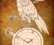 Steampunk Clockwork Raven