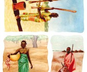 Africa   - carta découpage per Calambour