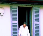 man on the balcony
