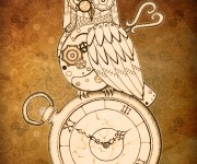 Steampunk Clockwork Owl