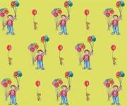 palloncini su  giallo