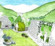 prospettiva giardino pensile