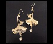 orecchini foglie di ginkgo