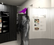 exhibit design - allestimento mostra satira 2