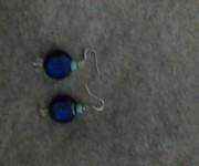orecchini vetro blu