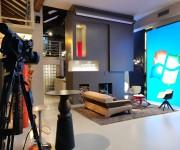Set per video interviste con ospiti e musica dal vivo nello studio Color