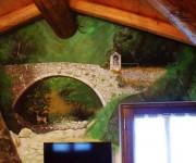 Opera pittorica in acrilico su parete, mt 2.00 x 1.00 - anno 2016